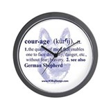 Courage--German Shepherd Wall Clock