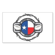 Texas Rugby Rectangle Decal