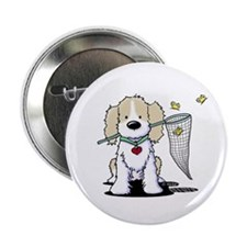 "Spaniel & Flutterbies 2.25"" Button (10 pack)"