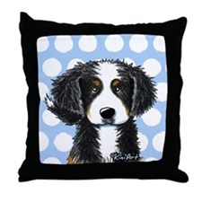 KiniArt Bernese Throw Pillow