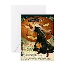 Victorian Halloween Greeting Card