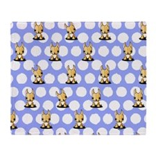 KiniArt Chihuahua Throw Blanket