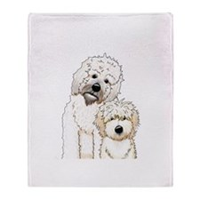 Tucker and Scout Portrait Throw Blanket