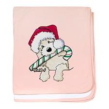 Candycane Cutie Pocket Doodle baby blanket