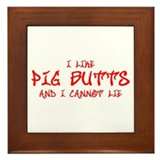 I-like-pig-butts-st-soul-red Framed Tile