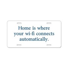 home wifi Aluminum License Plate