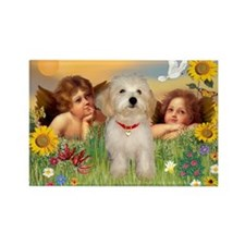 Angels & Havanese Pup Rectangle Magnet