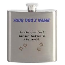 Greatest Gordon Setter In The World Flask