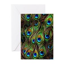 Peacock Feathers Invasion Greeting Cards (Pk of 20