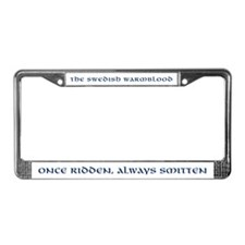 """Once Ridden"" White License Plate Frame"