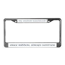 """""""Once Ridden"""" White License Plate Frame"""