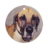 Great Dane dog Ornament (Round)