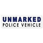 Unmarked Police Car Bumper Sticker