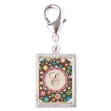 Personalized Name Flower Pattern Charms