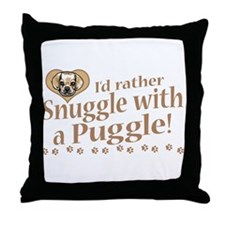 Snuggle Puggle Throw Pillow