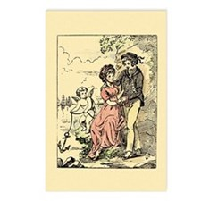 Vintage Cupid Anchor Valentine Postcards (Package