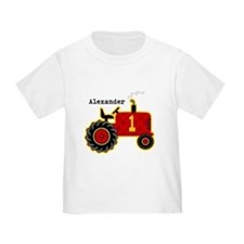 Red Tractor 1st Birthday Personalized T