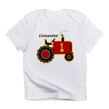 Red Tractor 1st Birthday Personalized Infant T-Shi