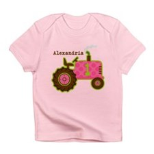Pink Tractor 1st Birthday Personalized Infant T-Sh