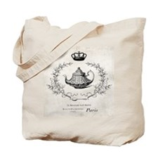 Vintage french teapot Tote Bag