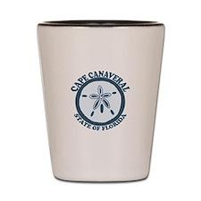 Cape Canaveral - Seashells Design. Shot Glass