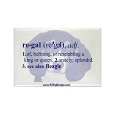 Regal--Beagle Rectangle Magnet