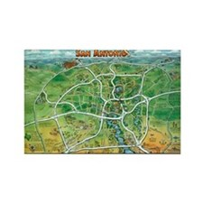 Cute City maps Rectangle Magnet