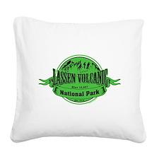 lassen volcanic 2 Square Canvas Pillow