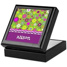 Colorful Flower Pattern Keepsake Box
