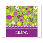 Colorful Flower Pattern Small Poster
