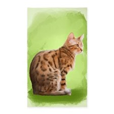 Bengal Cat Throw Rug 3'x5' Area Rug