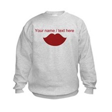 Personalized Red Lips Sweatshirt
