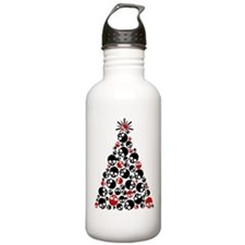 Gothic Skull Christmas Tree Water Bottle