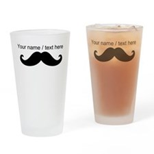 Personalized Mustache Drinking Glass