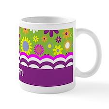 Colorful Flower Pattern Small Mug