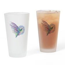 Hummingbird Art Drinking Glass