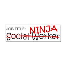 Job Ninja Social Worker Car Magnet 10 x 3