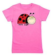 Cute Ladybug Girl's Tee
