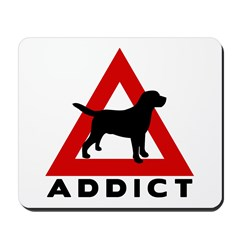 Warning Lab Addict Mousepad