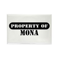 Property of Mona Rectangle Magnet (10 pack)