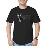 Forks Be With You Men's Fitted T-Shirt (dark)