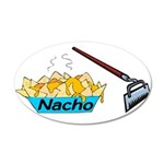 Nacho Hoe 35x21 Oval Wall Decal