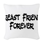 Breast Friends Forever Woven Throw Pillow