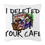 Deleted Cafe Woven Throw Pillow
