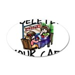 Deleted Cafe 20x12 Oval Wall Decal