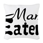 Man Eater Woven Throw Pillow