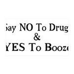 Yes To Booze 35x21 Wall Decal