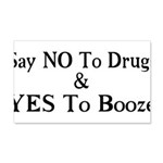 Yes To Booze 20x12 Wall Decal