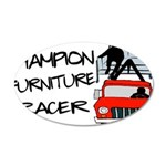 Champion Furniture Racer 20x12 Oval Wall Decal