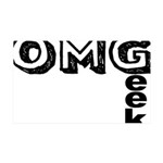 Oh My Geek 35x21 Wall Decal